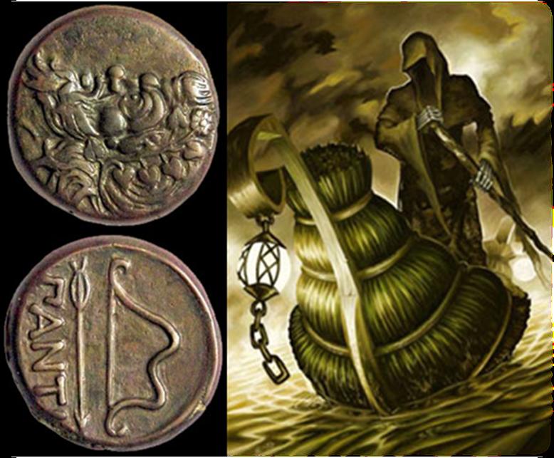 Мідні монети на очах померлого