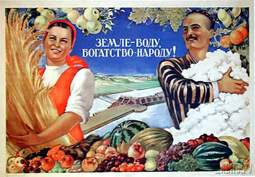 Земле - воду, богатство - народу! - плакат