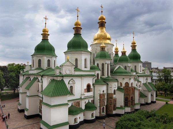 Софія Київська Вид собору з південного сходу